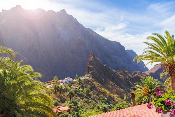 Masca by, den mest besökta turistattraktionen på Tenerife, Spanien