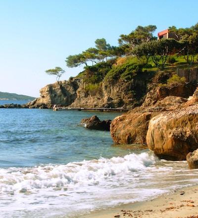 kusten i sydöstra Frankrike