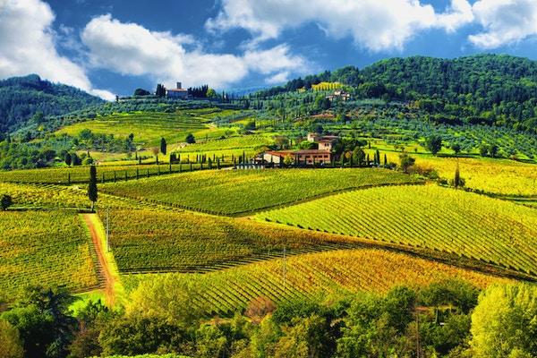 Landskap i Chianti-regionen, Toscana, Italien
