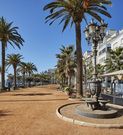 Strandpromenad i Lloret de Mar, Spanien, www.oscar-gutierrez.es