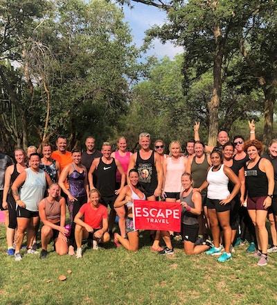 Grupp träning i Sydafrika