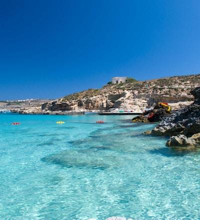 Blått hav och solsken på Malta