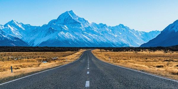 Imponerande berg i Mt. Cook National Park.