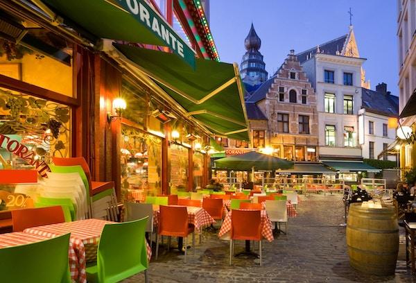Italiensk restaurant i Antwerpen, Belgia
