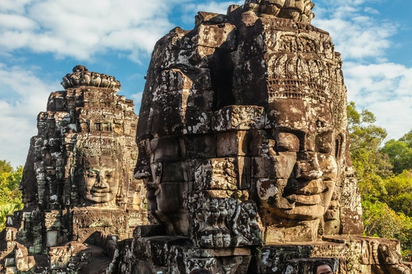 gigantiske ansikter prasat bayon tempel angkor thom cambodia