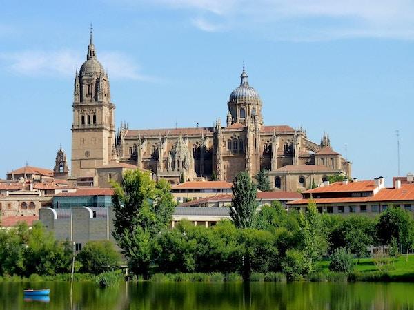 Utsikt över Salamanca-katedralen.