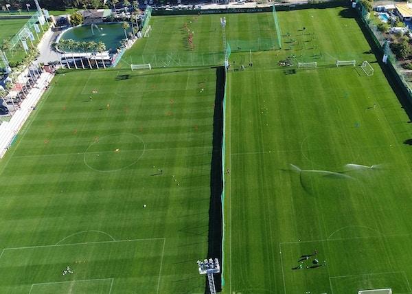 Marbella Football Center från ovan