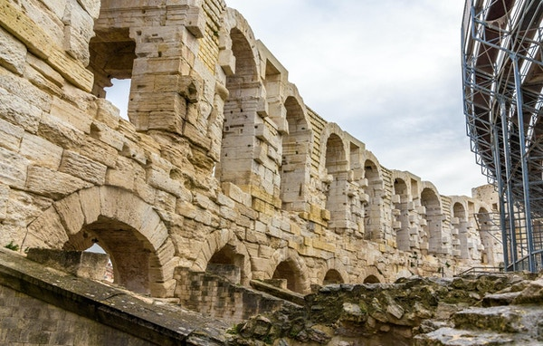Roman amphitheatre in Arles - UNESCO world heritage in France