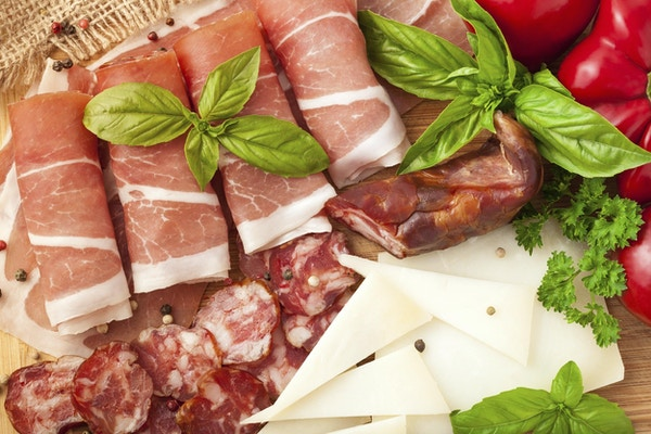 Olika köttprodukter