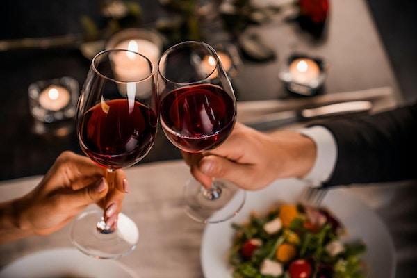 Par, romantisk, middag, samhörighet, semester