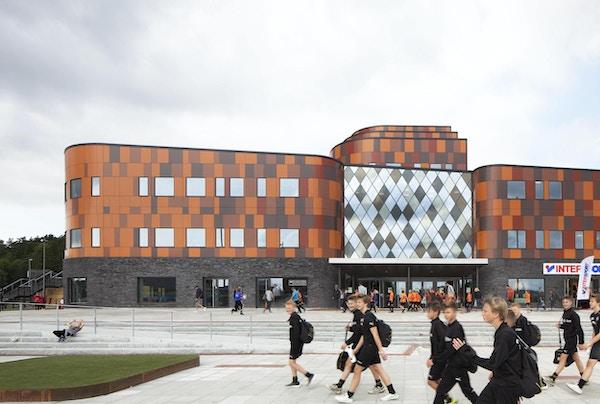 Entrén till Prioritet Serneke Arena, Göteborg, Sverige