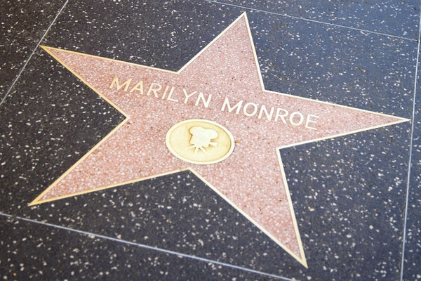 Usa kalifornien los angeles hollywood walk of fame marilyns stjarna1