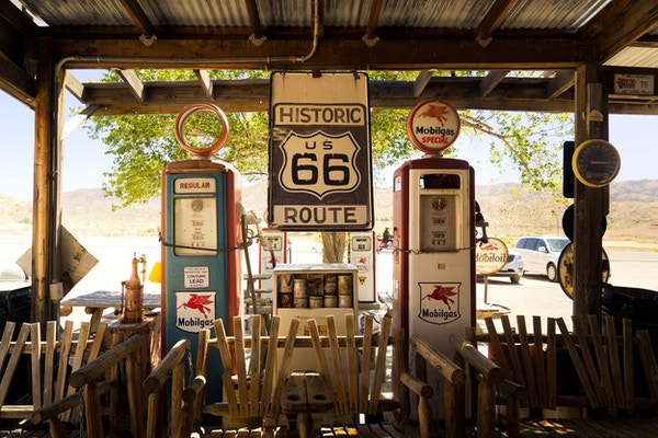 Eagle rider usa route 66 bensinstation1