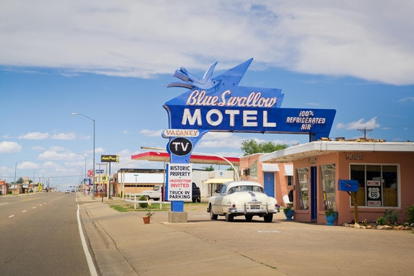 Eagle rider usa route 66 new mexico blue swallow motel1