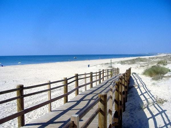Fin sandstrand, Monte Gordo, Portugal