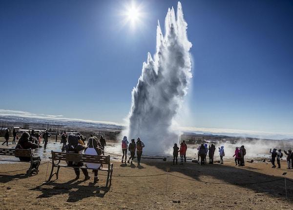 Island strokkur gejser gyllene cirkeln1