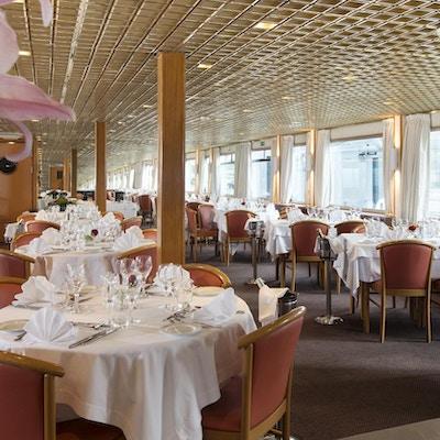 Utsikt över restaurangen på fartyget MS Seine Princess