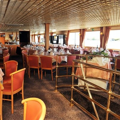 Restaurangen ombord på fartyget MS Rhone Princess
