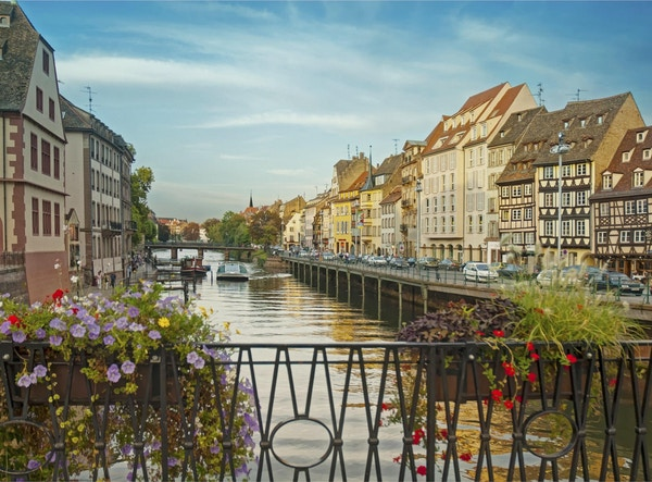 historiska gamla stan Strasbourg, Frankrike,