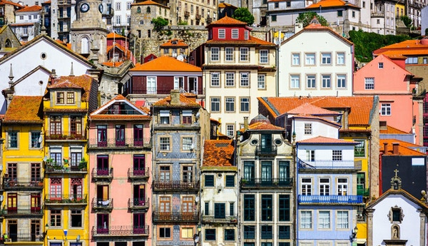 Porto, Portugal old buildings.