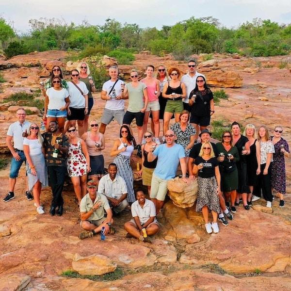 Gruppbild vid Sunset Rock