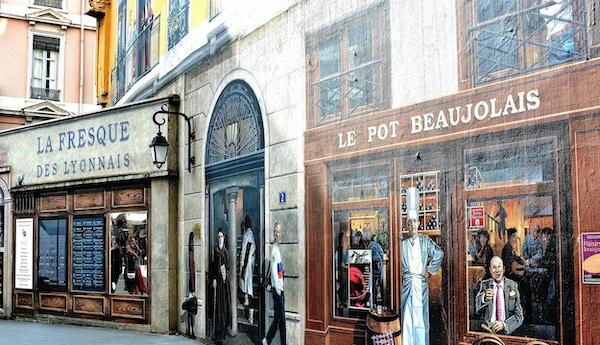 Väggmålningar i Lyon