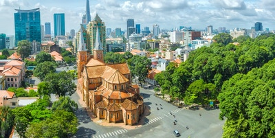 Ho Chi Minh City is a sunny day underneath Notre Dame