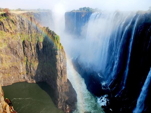 Victoria Falls i Zimbabwe.