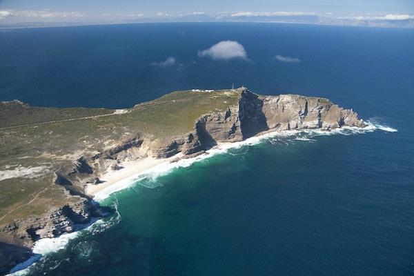 Spetsen på Cape of Good Hope sträcker sig som ett finger.