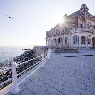 Gammal kasinobyggnad i Costanta Rumänien