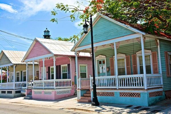 Hus i pastell key west1