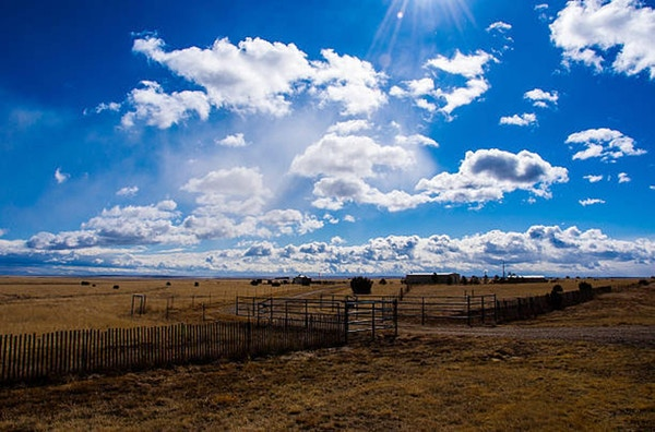 Amarillo Farm Fields and Ranch landar Big Texas Sky