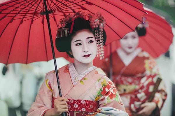 Maiko-flickor, Geisha-lärlingar, Kyoto, Japan