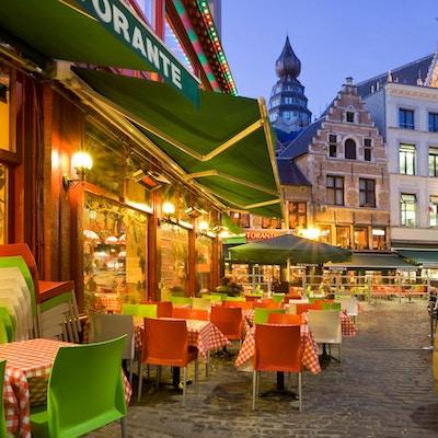 Italiensk restaurang i Antwerpen, Belgien