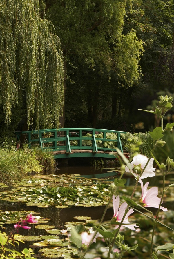 Trädgården för den berömda målaren Claude Monet, där han målade sina näckrosor