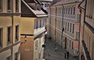 Middelalderkvarter i østeuropeisk by
