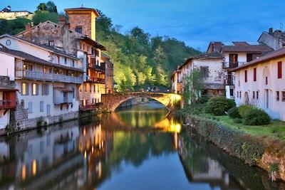 Saint Jean Pied de Port, Frankrike; utgångspunkt för pilgrimsfarten till Santiago de Compostela.