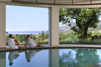 Spa med utsikt över Gardasjön, Poiano Resort, Garda, Italy
