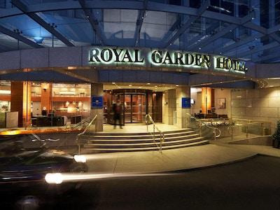 Hotellentré från Kensington High Street, Royal Garden Hotel, London, United Kingdom