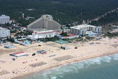 Yellow Praia Monto Gordo Hotel och Hotel Dunamar, sandstrand, Monte Gordo, Portugal