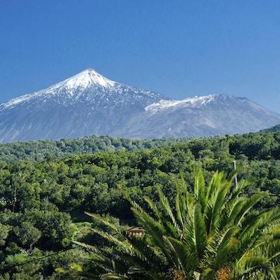 Teide, Spaniens högsta berg, på Teneriffa på Kanarieöarna. Tide, Spaniens högsta berg, på Teneriffa på Kanarieöarna