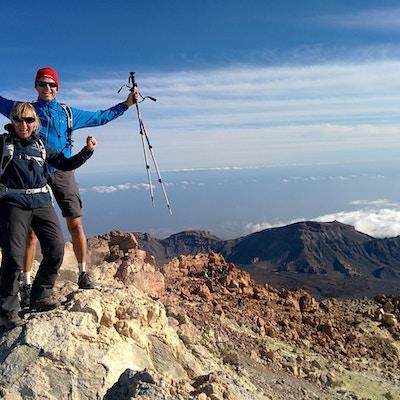 På toppen av Teide, 3718 meter över havet