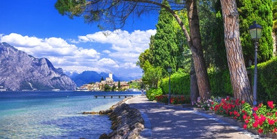 Scenery of Northen Italy. Malcesine on Lago di Garda