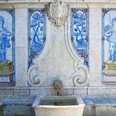 Sintra, en fontän i det gamla landets centrum