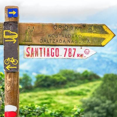 Skyltar på Camino de Santiago