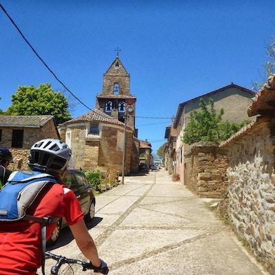 Pilgrimscykling camino de santiago spanien 1