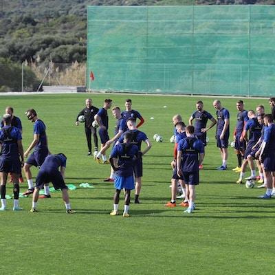 Fotbollsläger på Arroyo Enmedio i Estepona