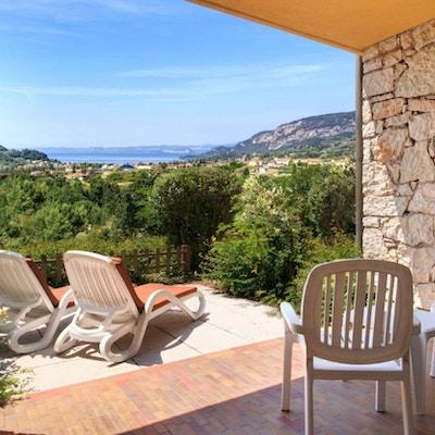 Terrass, lägenhet, med utsikt över Gardasjön, Poiano Resort, Garda, Italien