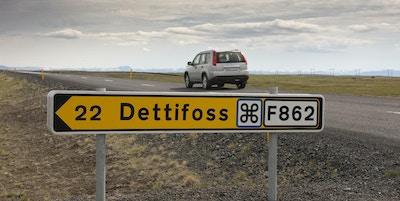 Vägskylt på Island