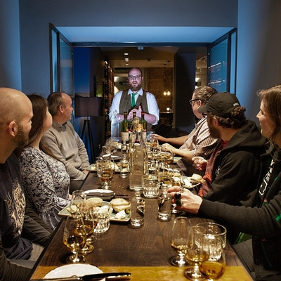 Whiskyprovning, Scotch Malt Whisky Society, Edinburgh, Skottland